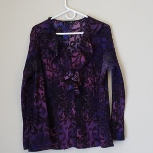 east 5th Purple & Black Blouse